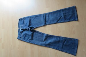 7 For All Mankind Boot Cut Jeans dark blue cotton