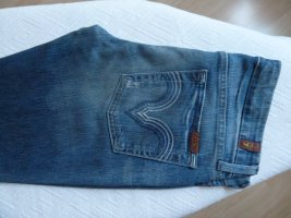 7 For All Mankind Straight Leg Jeans blue cotton