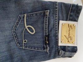 7 For All Mankind Jeans cigarette bleu-bleu acier