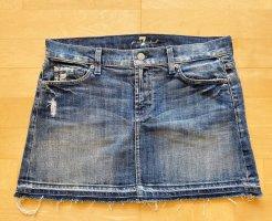 7 For All Mankind Gonna di jeans blu acciaio Cotone