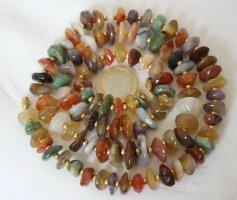 Vintage Naszyjnik z perłami brązowy-brązowo-fioletowy