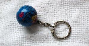 70er Jahre Schlüsselanhänger Weltkugel Globus Keychain