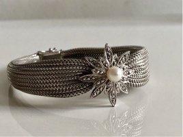 800 Silber Armband Perle Silberarmband Armreif Luxus Vintage