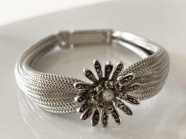 Vintage Srebrne bransoletki srebrny-biały