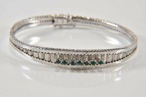 800er Silber Armband mit facettierten steinen