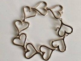 835 Silber Armband Herzen Herz Gliederarmband Silberarmband Armreif Vintage