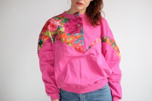 Pull oversize rose coton