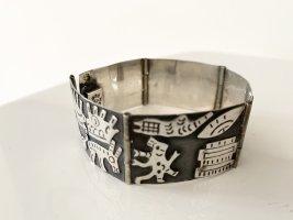 Vintage Bracelet en argent argenté-noir