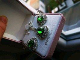 Catena d'argento verde