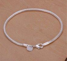 Braccialetto in argento bianco
