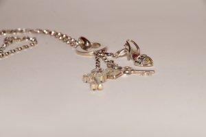 925 Silber Charmkette für 3 Anhänger