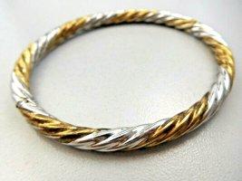 925 Silber Gold bicolor Design Armreif Armspange Bracelet bangle silver sterling Klapparmreif