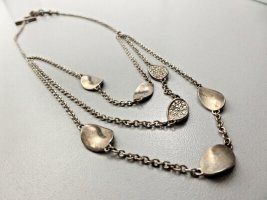 Modern vintage Collier Necklace silver-colored-white real silver