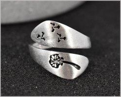 Anello d'argento argento-nero Argento