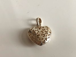 925 Sterling Silber Herz Anhänger Silberanhänger verziert edel Charm Herzanhänger