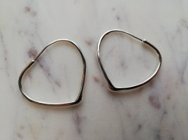 Ear Hoops silver-colored real silver