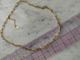 925 Sterling Silber Kette vergoldet Gliederkette Glieder Kette Choker