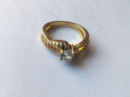 925 Sterling Silber Ring 18 Karat vergoldet.Größe 59/18,8mm.NEU