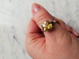 Anello d'argento argento-giallo