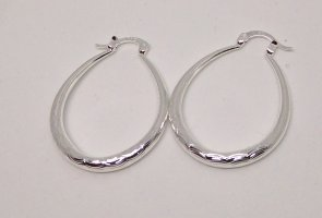 Silver Earrings white