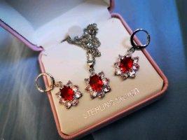 Catena d'argento rosso