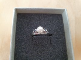 Anello d'argento nero-argento