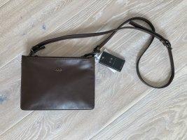 Bellucci Crossbody bag dark brown-brown leather