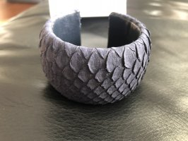 a cuckoo moment Leather Bracelet dark blue leather