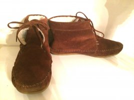 A.P.C. Moccasins brown red suede