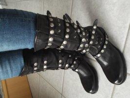 A.S.98 Halfhoge laarzen zwart Leer