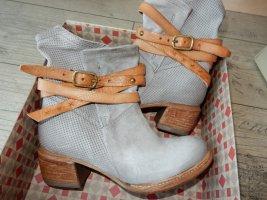 A.S.98 Botas de tobillo gris Cuero