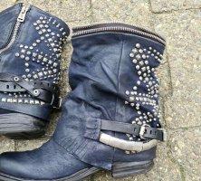 A.S.98 Low boot bleu foncé cuir