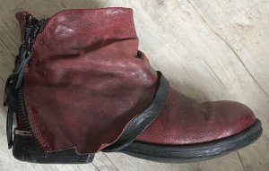 A.S.98 Booties carmine-black leather