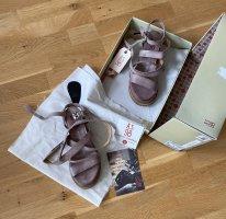 A.S.98 Sandalen met bandjes en hoge hakken stoffig roze Leer