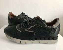 A.S.98 Sneaker Leder schwarz grau Gr. 40