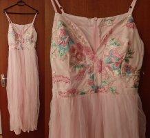 Abendkleid Ballkleid Maxikleid Kleid A-Linie Tüll Stickereien Bestickt Blumen