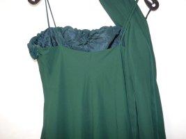Abendkleid Kleid in Grün mit Rose besetzt mit Passendem Tuch / Schal gebraucht Unique