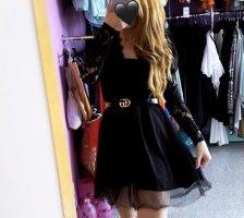 Abendkleid Koronkowa sukienka czarny