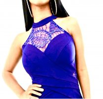 Lipsy Vestido de noche azul oscuro