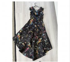 Pinko High Low Dress multicolored