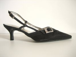 Slingback Pumps black-silver-colored