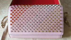 Christian Louboutin Clutch stoffig roze-rood Leer