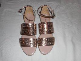 abendtaugliche flache Sandalen von Llyod Gr. 39 roségold 1x getragen