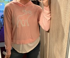 abercrombie and fitch hoodie rosa pink rose elch pullover kapuze fleece mit shirt