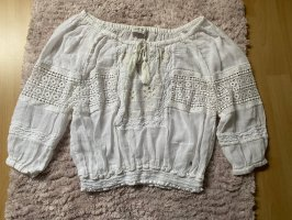 Abercrombie & Fitch Long Sleeve Blouse white-natural white
