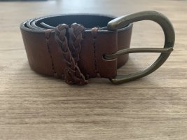 Abercrombie & Fitch Leather Belt cognac-coloured-brown leather