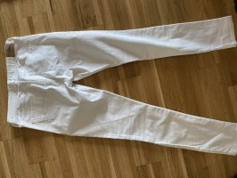 Abercrombie & Fitch Pantalon cigarette blanc