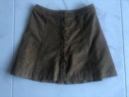 Abercrombie & Fitch Jupe en cuir synthétique multicolore