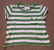 Abercrombie & Fitch Camiseta blanco-verde