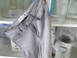 Abercrombie & Fitch Skinny Jeans light grey-silver-colored